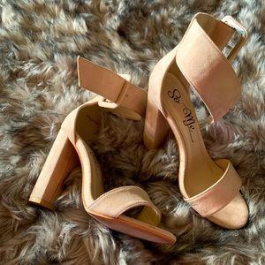 LOLA SHOETIQUE  beige strappy heels